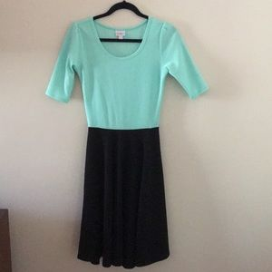 LuLaRoe mint green black Nicole Dress XS